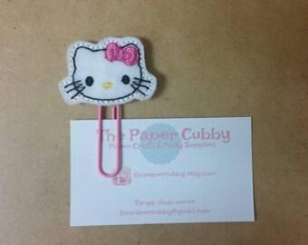 Felt Kitty Cat Paperclip Bookmark