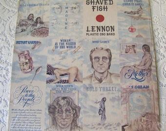 Vintage John Lennon Shaved Fish Vinyl Record Album Plastic Ono Band 1975 Give Peace A Chance Imagine