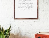 Children are a heritage from the Lord, Psalm 127:3-5, Art Print, Religious Quote, Bible verse, Gift, Home Decor
