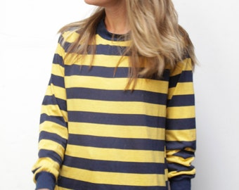 90s striped OXFORD soft SPRING long sleeve t-shirt top