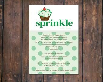 Cupcake Sprinkle Invite