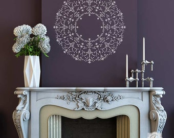 Large Circle Medallion Stencil for Painting a Custom Ceiling Design or Classic European Wall Motif Art