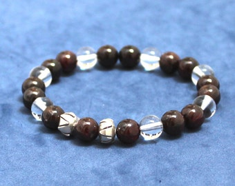 Fertility Bracelet Gorgeous Garnet Chakra Mala Beads Budget Friendly Jewelry Gifts for her under 30 Quartz Healing Pregnancy Birthstone Gems