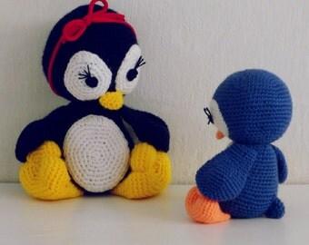 Amigurumi Penguirn Crochet Pattern PDF - Penguins amigurumi Toy crochet pattern - Instant DOWNLOAD