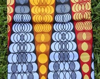 "Autumn Diamond Zipper: Lavender, Mustard, Burgundy Geometric Print, Dutch African Wax Print, Ankara, Tribal Fabric, Head Wrap, 1 yard x 46"""