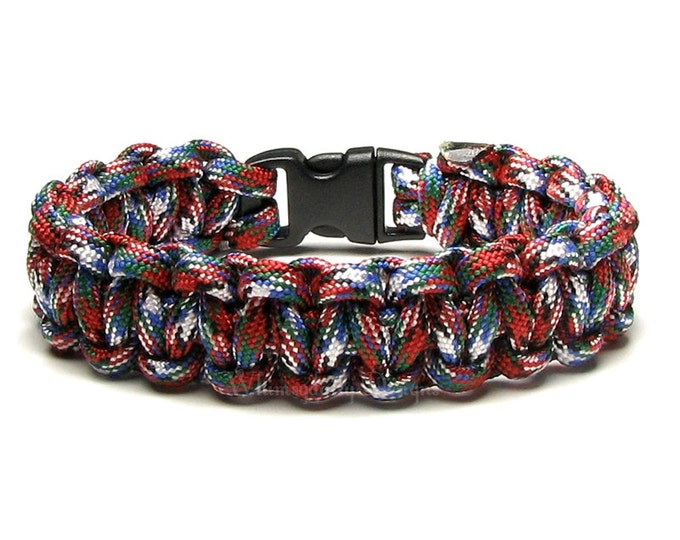 Paracord Bracelet Afghan Vet American White Black Red Green Blue Survival Accessory Military Armed Forces Gift For Men Veteran 2nd Amendment