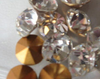 Vintage Swarovski Crystal Rhinestones ss39 8.16-8.41mm Article 1100 QTY - 2