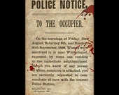 Jack the Ripper Murder Notice Flier