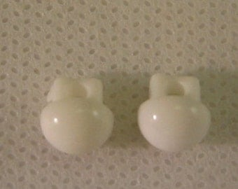 """Extra Small Button, Size 1/4"""""""" (7mm) White Shank 1 hole Lot of 6"""
