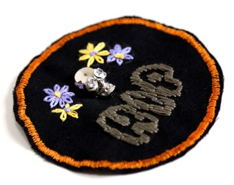 Hand Embroidered RIP Patch
