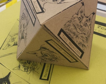 Literary Cat 3D Zine Tchotchke PDF