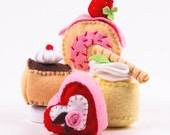 Cakes Sewing Kit, Felt Dessert Playfood, Felt Cake Craft Kit, Beginner Sewing Kit, DIY Sewing, Hand-Stitching - 'Take the Cakes' Heidi Boyd