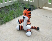 Small Huggable Hobbes Tiger - Made to Order