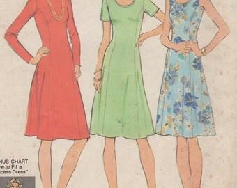 Bust 43-FACTORY FOLDED 1975 Women's Full Figure Dress Simplicity 7027 Size 20 1/2