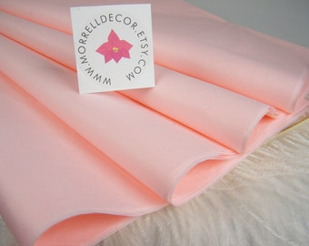 "Light Baby Pink Blush Tissue Paper  24 Sheets of 20"" X 30""  Pink Wedding Decor  Shower Gift Wrap - Favor Box Wrap - DIY Pom Pom Supplies"