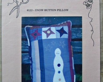 Snow Button Pillow pattern #133, by Bits & Pieces by joan