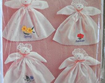 Four Seasons Handkerchief Dolls Kit, by Bucilla