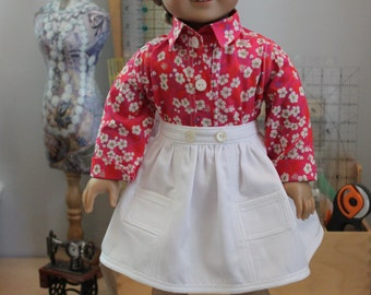 Contemporary Skirt and Blouse for 18 Inch Doll, C193