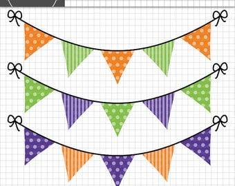 halloween bunting clipart halloween graphics halloween clip art polka dot stripes - Halloween Graphics Clip Art
