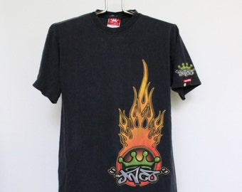 JNCO Jeans T Shirt Mens Medium / Large Unisex Womens Tee Shirt Vintage 90s 1990s Skater Skateboard Dragon Raver Club Kid