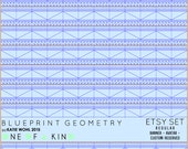 Blueprint Geometry - etsy set