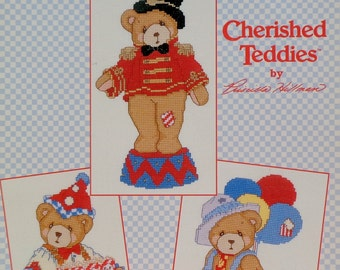 Priscilla Hillman Cherished Teddies THE CIRCUS Is In TOWN By Gloria & Pat (Multiple Designs)  - Counted Cross Stitch Pattern Chart Booklet