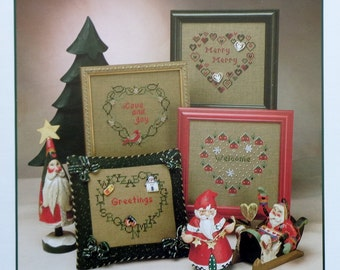 Judy Whitman MERRY HEARTS III 3 By JbW Designs (Multiple Designs) - Counted Cross Stitch Pattern Chart