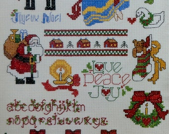 Leisure Arts Mini Series #18 MERRY YULETIDE One Nighters - Counted Cross Stitch Pattern Chart