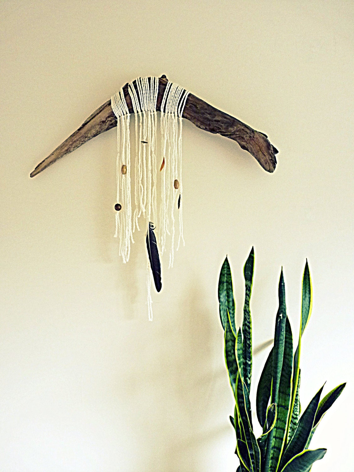 Driftwood wall hanging boho wall hanging large by countrychiq for Driftwood wall