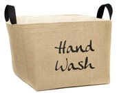 Hand Wash Rustic Laundry Basket