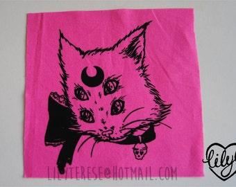 Super Psychic Gross Kitty Cat Patch