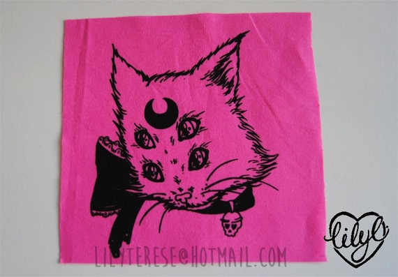 ON SALE Super Psychic Gross Kitty Cat Patch