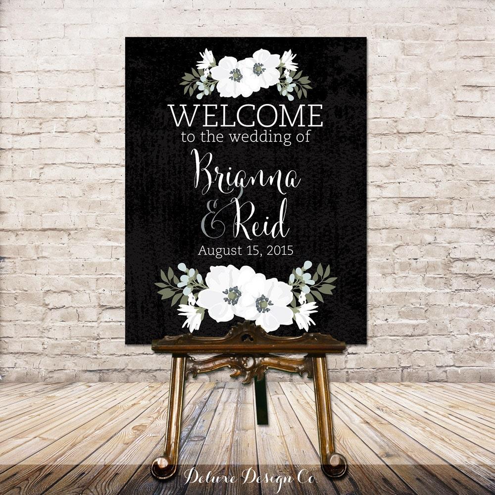 Wedding Welcome Sign Printable // PRINTABLE DIY Large Custom