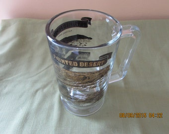 Beer Stein - 22 karat gold and black design - Painted Desert / Petrified Forest Souvenir Mug - Gold and Black Stein - Man cave
