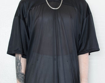 sale // sheer black jersey - L
