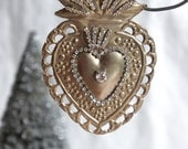 Ex voto sacred heart ornament christmas ornament ex voto ornament sacred heart ornament holiday ornament decoration from My Sweet Maison