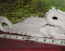 """Awesome,Dragon incense Burner, 11"""", Stick incense,Dragon Incense holder,renaissance dragon,Goth Dragon,Ready to paint,Ceramic bisque,u-paint"""
