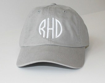 Monogram Baseball Cap Custom Embroidery Beach Hat, Wedding Party Gift Under, Sorority Cap pigment dyed
