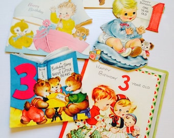 Vintage Children's Birthday Cards