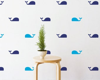 Mini Whales | Removable Wall Decal & Sticker for Home, Office, Nursery | LSB0228VCC-S