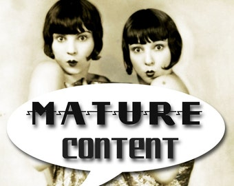MATURE... Threesome... Instant Digital Download... Vintage Erotic Photography... Vintage Nude Photo