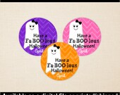 Ghost Favor Stickers - Halloween Favor Stickers - Halloween Party Decor - Ghost Gift Labels - Digital and Printed Available