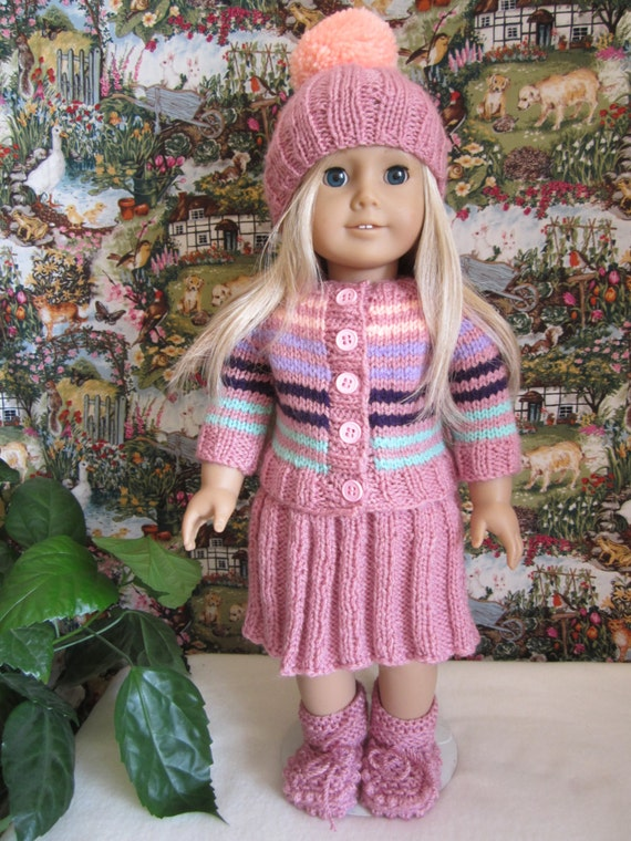 Knitting Patterns For Our Generation Dolls : Knitted American girl doll set...our generation 18 by ...