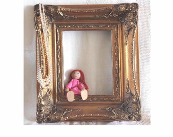 Vintage ornate gilt gesso  frame