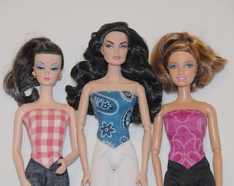 Barbie Clothes Tailor Made by Tunafairy - Simple Bandana Top for Barbie, FR, and Monster High 17