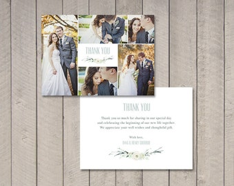 Wedding Photo Thank You Card (Printable) by Vintage Sweet