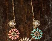 Pastel Bib statement necklace