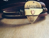 Nashville Tennessee Bracelet . Tennessee. Nashville.Memphis. Knoxville. Chattanooga. Tennessee. Handmade. Bird on a Wire Jewelry