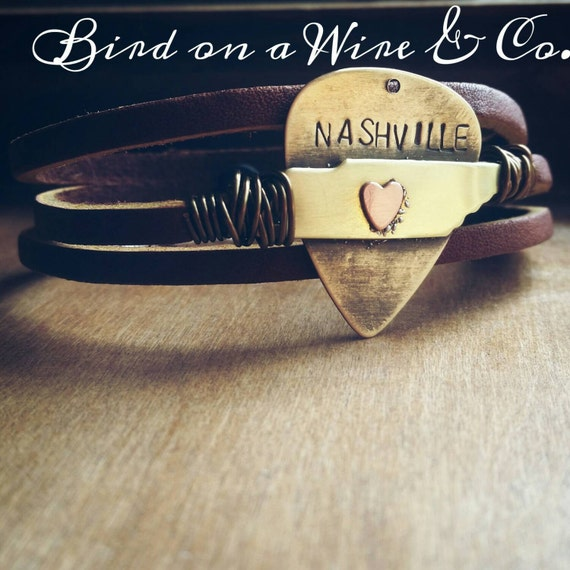 Items similar to nashville tennessee bracelet tennessee for Tattoo shops in chattanooga