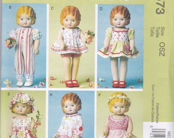 18 Inch Doll Wardrobe Pattern McCalls 6573 Uncut